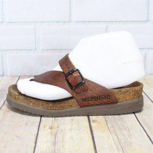 MEPHISTO Toe Hug Buckle Thong Sandals Sz 35 US 5
